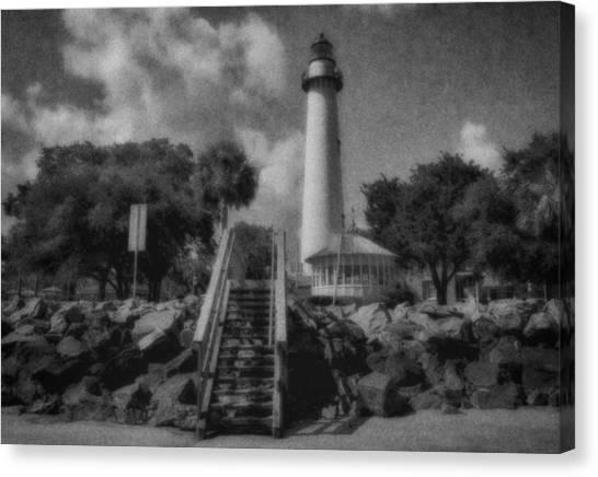 St. Simon's Lighthouse 3 Canvas Print