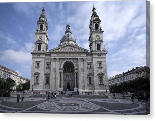 Neoclassical Art Canvas Print - St Stephens Basilica Budapest by Joan Carroll