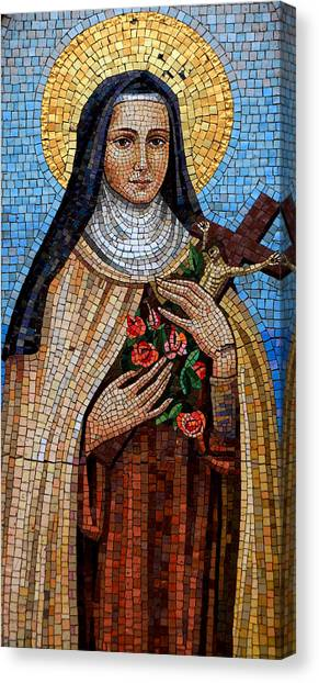 Mosaic Canvas Print - St. Theresa Mosaic by Andrew Fare