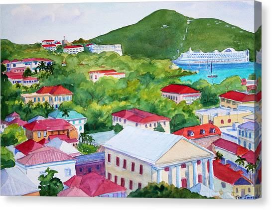 St. Thomas View Canvas Print by Teri  Jones