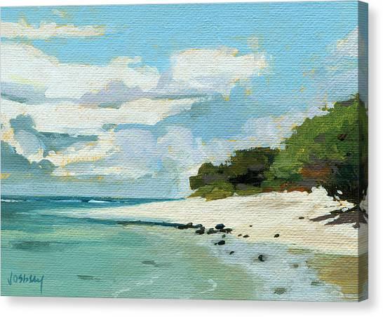 Mauna Loa Canvas Print - Stable Road Beach Maui by Stacy Vosberg