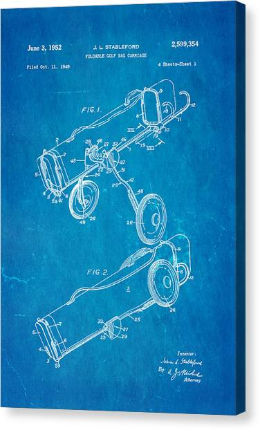 Golf swing art fine art america golf swing canvas print stableford golf trolley patent art 1952 blueprint by ian monk malvernweather