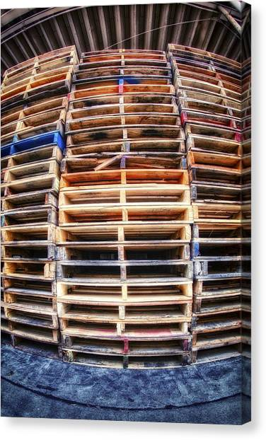 Stack Of Pallets Canvas Print by Rscpics