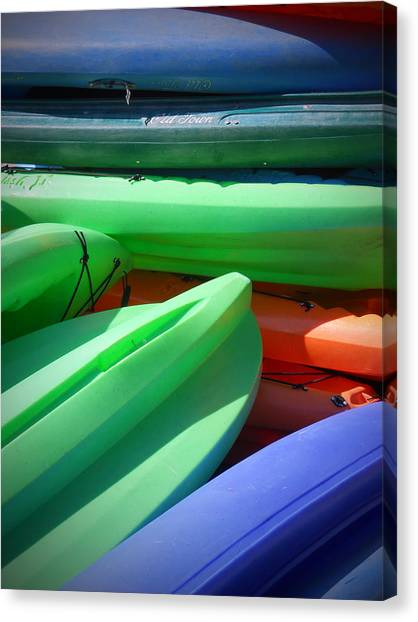 Canvas Print featuring the photograph Stacked by Judy Hall-Folde