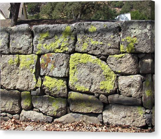 Stacked Stone Wall Canvas Print