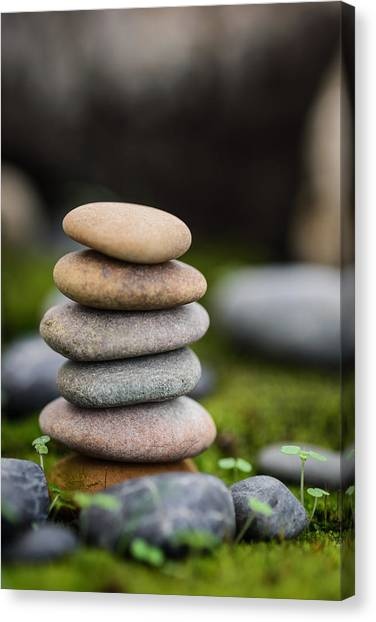 Stacked Stones B2 Canvas Print