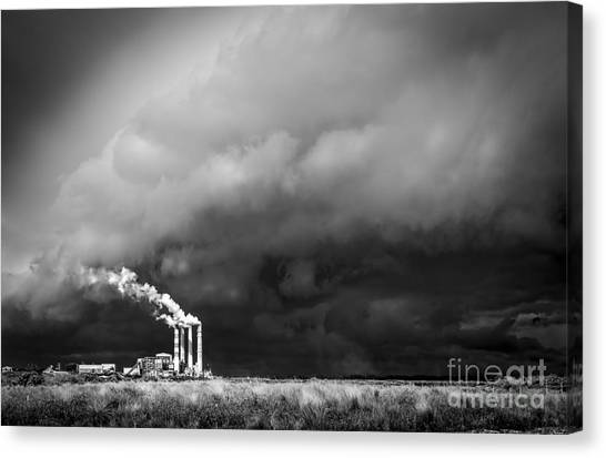 Pollution Canvas Print - Stacks In The Clouds by Marvin Spates