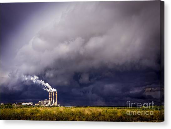 Thunder Bay Canvas Print - Stacks In The Clouds by Marvin Spates