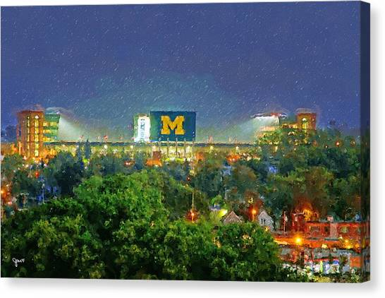 Arbor Canvas Print - Stadium At Night by John Farr