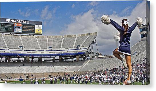 Cheerleading Canvas Print - Stadium Cheer by Tom Gari Gallery-Three-Photography