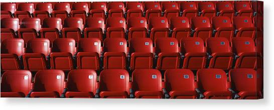 Folding Chairs Canvas Print - Stadium Seats by Panoramic Images