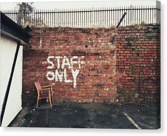 Staff Only Canvas Print