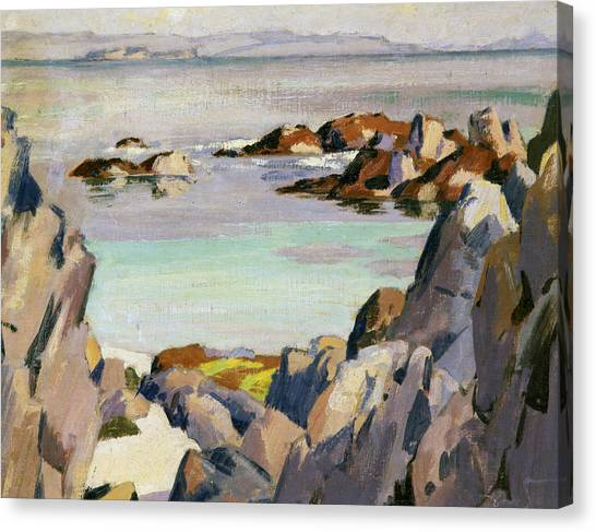Campbell Canvas Print - Staffa And Rhum From Iona by Francis Campbell Boileau Cadell