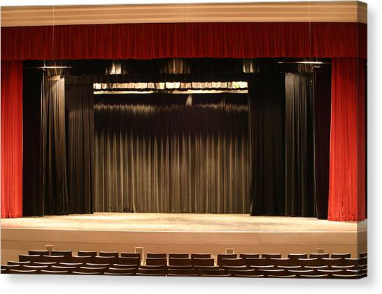 Stage Curtain 2 Canvas Print by Jondpatton