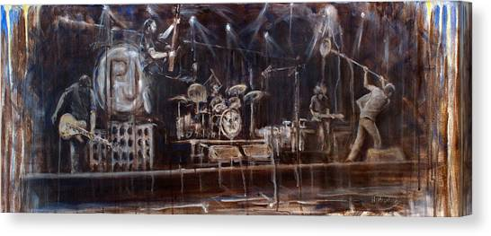Pearl Jam Canvas Print - Stage by Josh Hertzenberg