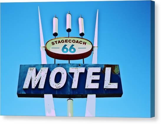 Stagecoach 66 Motel Canvas Print