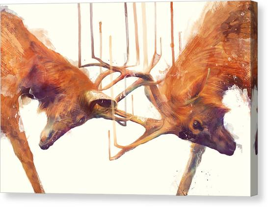 Wild Animals Canvas Print - Stags // Strong by Amy Hamilton