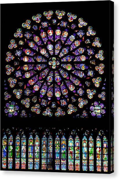 Stained Glass At Notre Dame Canvas Print