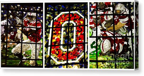 Big Ten Canvas Print - Stained Glass At The Horseshoe by David Bearden