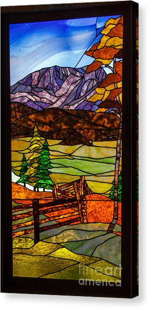 High Quality Decorative Glass Canvas Print   Stained Glass Beauty By Robert Bales