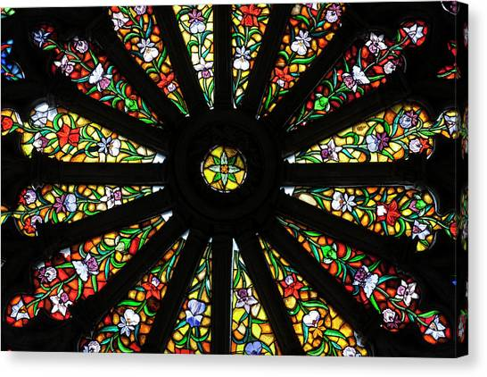 Ecuadorian Canvas Print - Stained Glass Detail by Brent Bergherm