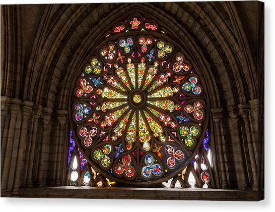 Wonderful Decorative Glass Canvas Print   Stained Glass Details By Jess Kraft