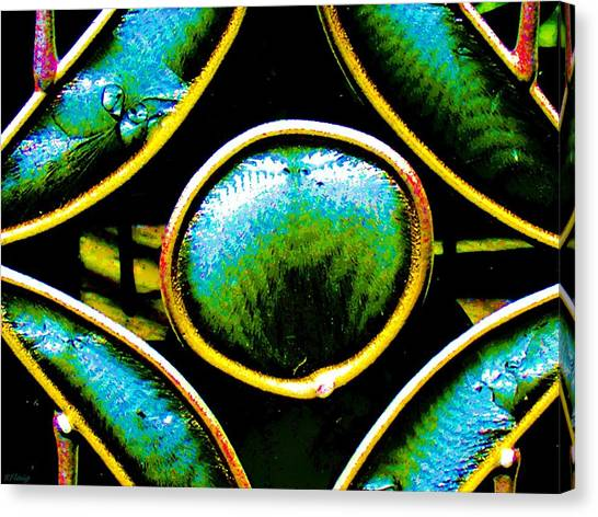 Stained Glass Eye Canvas Print by Rebecca Flaig