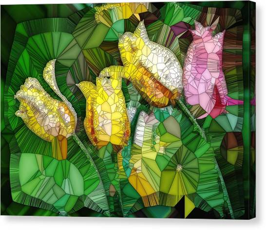 Stained Glass Series - Tulips Canvas Print