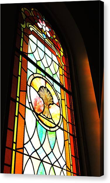 Stained Glass Wheat Canvas Print by Stephanie Grooms