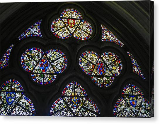 Coptic Art Canvas Print - Stained Glass Window by Patricia Hofmeester