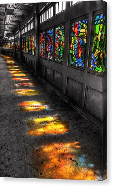 Stains In The Path Canvas Print