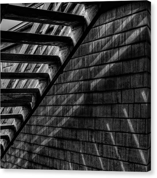 Wooden Canvas Print - Stairs by David Patterson