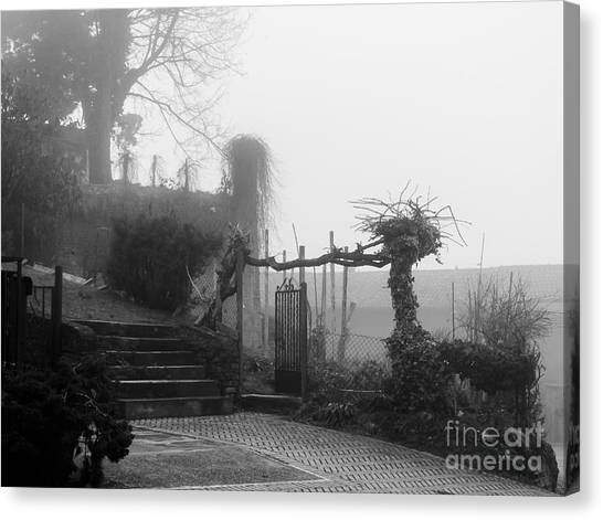 Stairs In The Fog Canvas Print