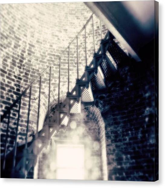 Lighthouses Canvas Print - Stairs To The Top Of The Tower by Scott Pellegrin