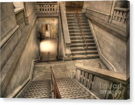 Stairs Up And Down Canvas Print by David Bearden