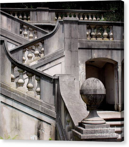 Stairway At Winterthur Canvas Print