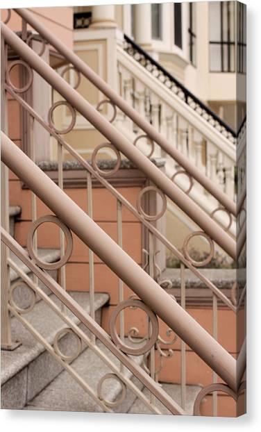 Stairway Detail Canvas Print by Denice Breaux