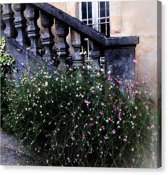 Stairway In Sarlat France Canvas Print by Jacqueline M Lewis