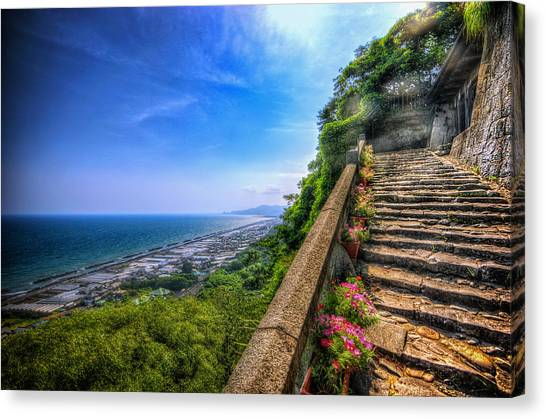 Stairway Temple Canvas Print