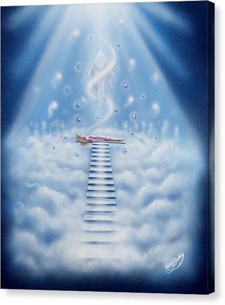 Stairway To Heaven Canvas Print by Nickie Bradley