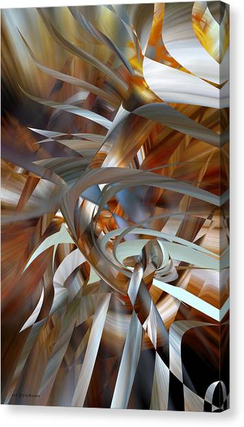 Canvas Print featuring the digital art Stairway To Heaven by rd Erickson