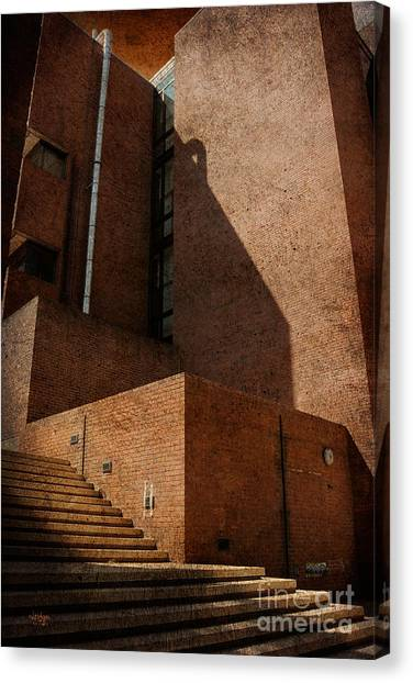 Colleges And Universities Canvas Print - Stairway To Nowhere by Lois Bryan