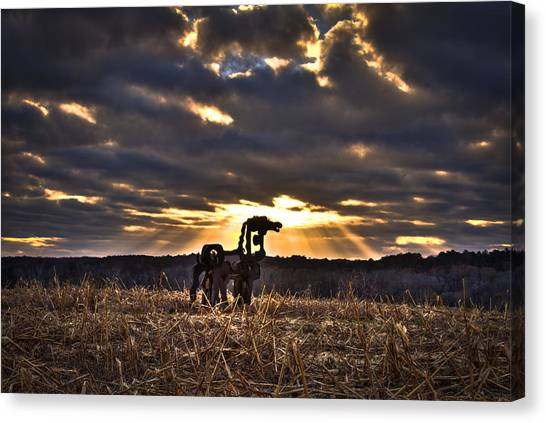 University Of Georgia Canvas Print - Stairways To Heaven The Iron Horse by Reid Callaway