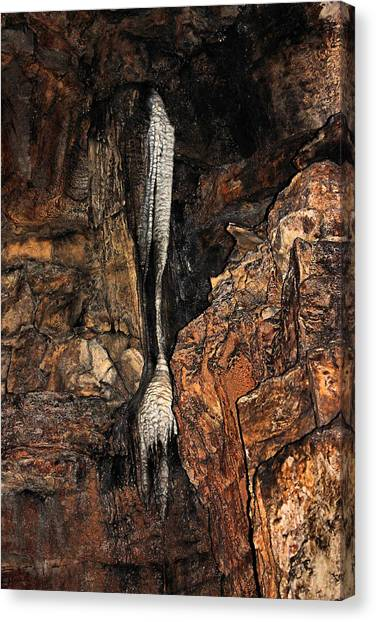 Mammoth Cave Canvas Print - Stalactite In Mammoth Cave by Kristin Elmquist