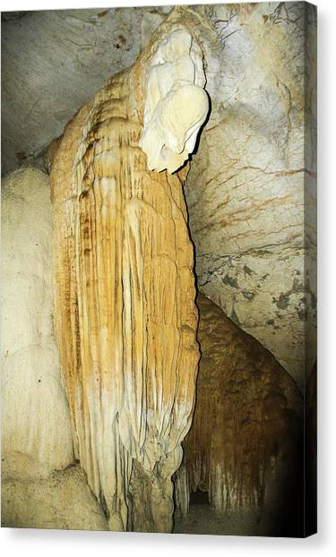 Limestone Caves Canvas Print - Stalactite by Photostock-israel
