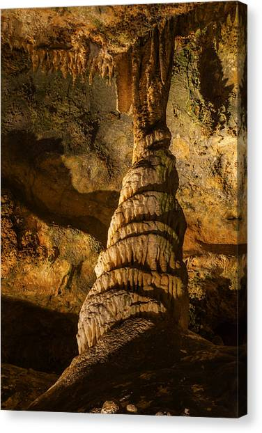 Stalagmites Canvas Print - Stalagmites In Luray Cavern by Vishwanath Bhat