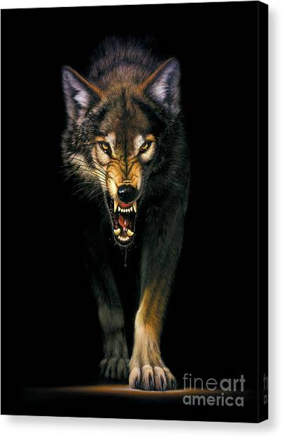 Wild Animals Canvas Print - Stalking Wolf by MGL Studio - Chris Hiett