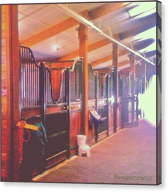 Stanford University Canvas Print - Stall Doors In The Red Barn, Stanford by Anna Porter