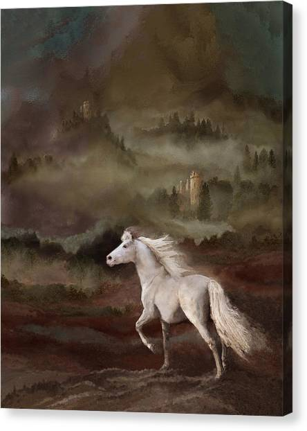 Canvas Print featuring the photograph Stallion Of The Knolls by Melinda Hughes-Berland