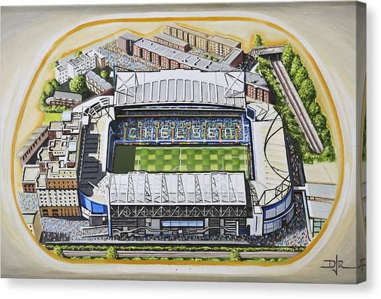 Stamford Bridge Canvas Print - Stamford Bridge - Chelsea by D J Rogers